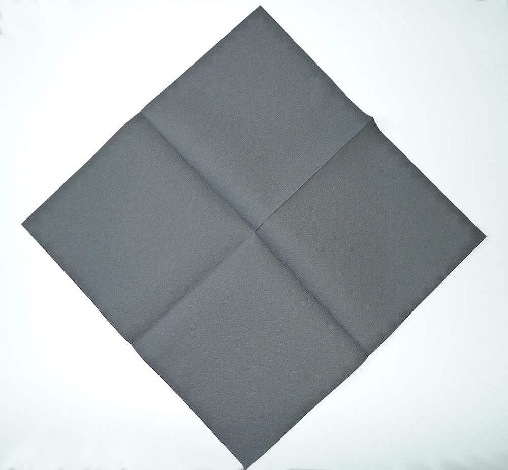 pliage de serviette de table en forme de chien scottish terrier black and white. Black Bedroom Furniture Sets. Home Design Ideas