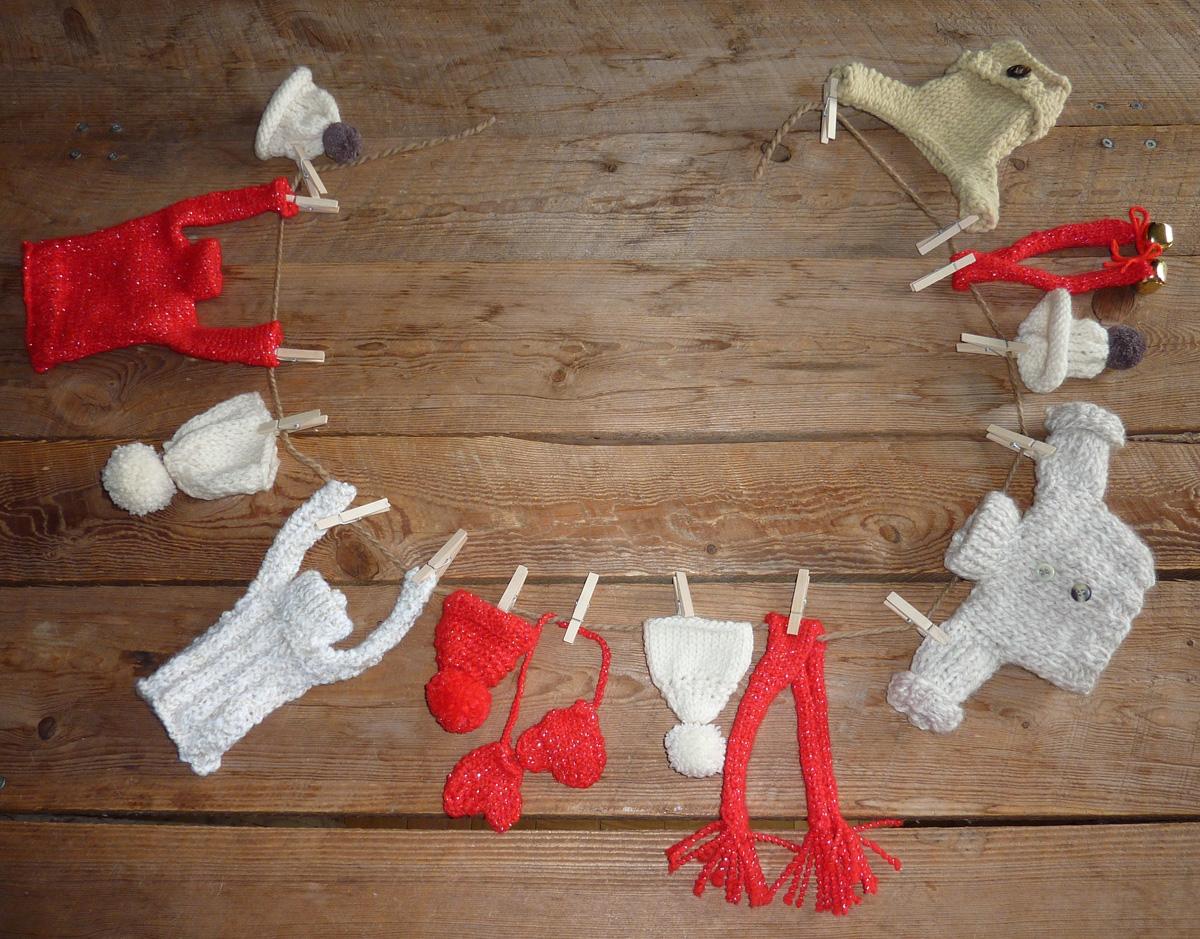 Decoration Sapin Bonnet Noel Laine