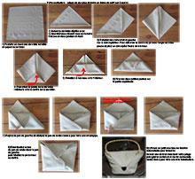 pliage de serviette de table r aliser un sac main avec une serviette en papier l art du. Black Bedroom Furniture Sets. Home Design Ideas