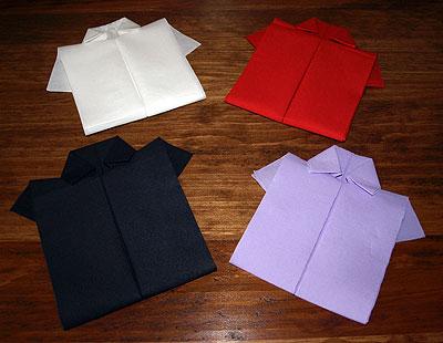 pliage en papier r aliser une chemise ou chemisette. Black Bedroom Furniture Sets. Home Design Ideas