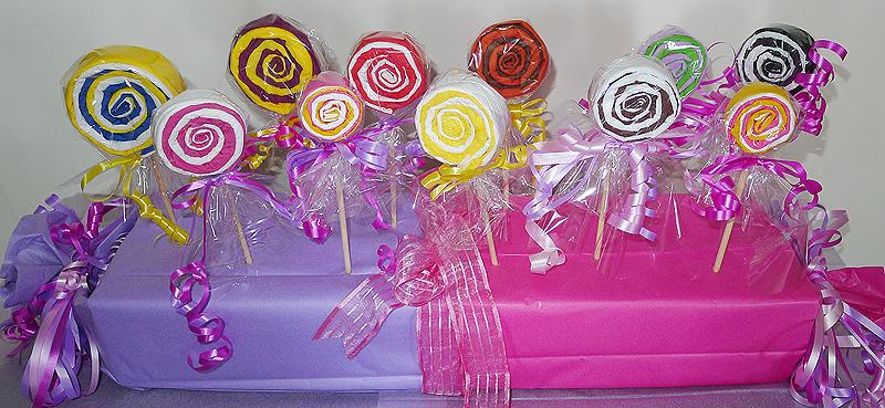 r aliser une sucette lollipop en papier pliage de serviette en papier en forme de sucette. Black Bedroom Furniture Sets. Home Design Ideas