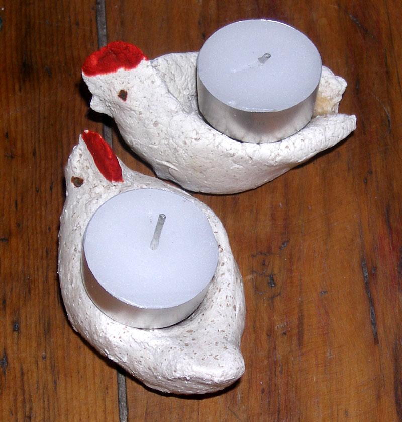 bricolage de Pâques cocotte en pâte à sel, poulette en
